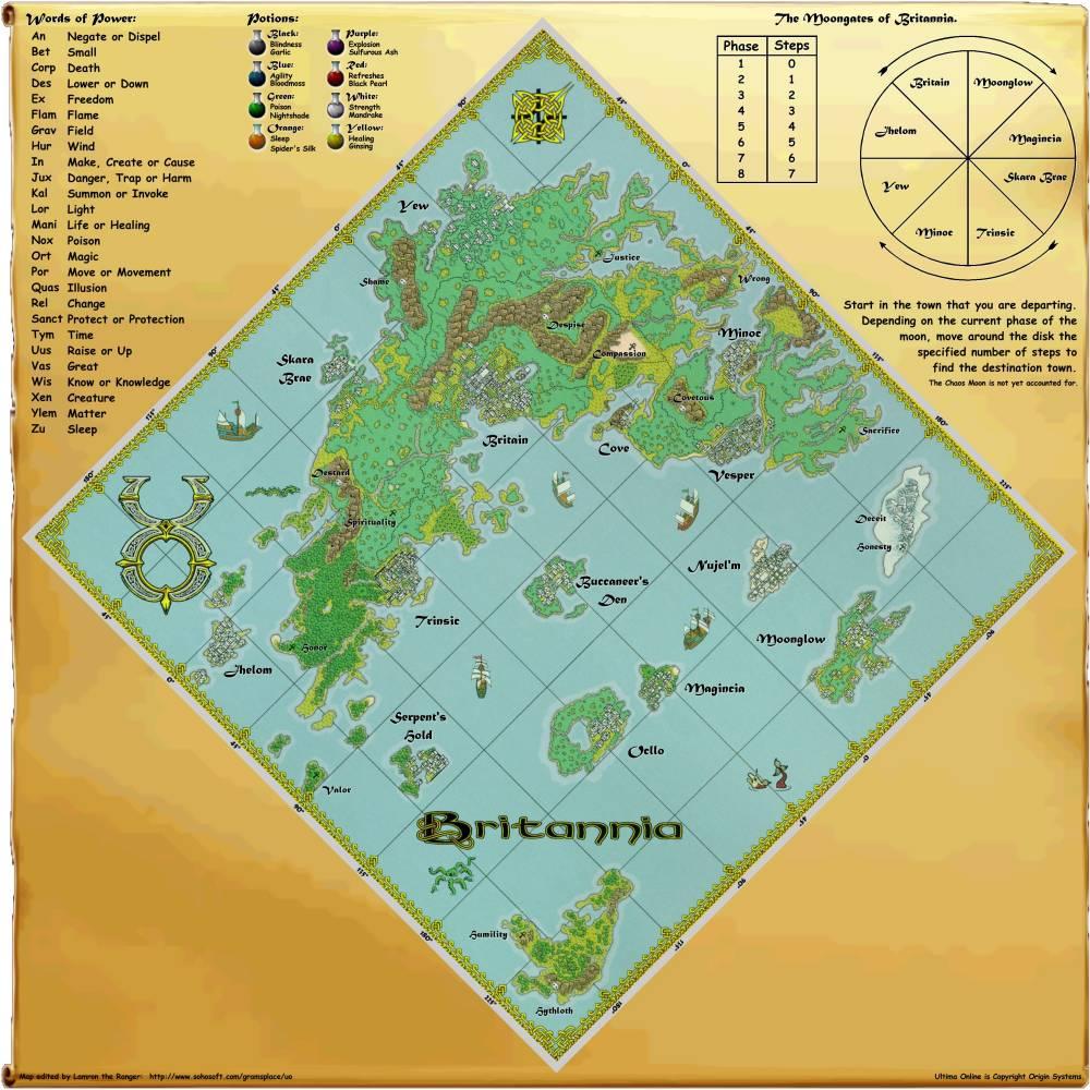 Maps of Britannia - UOGuide, the Ultima Online Encyclopedia